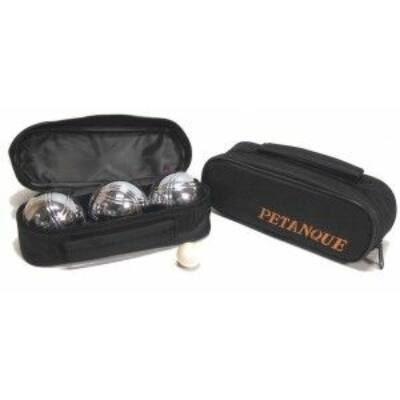 Pétanque, 3 fém golyóval, fekete táskában - 251121 - Egyszerbolt Társasjáték Webáruház