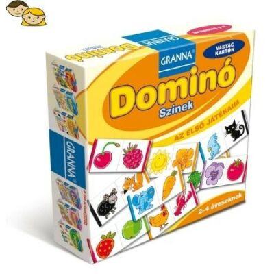 Az első játékaim Domino- Színek  - társasjáték 2 éves kortól - Granna - Egyszerbolt