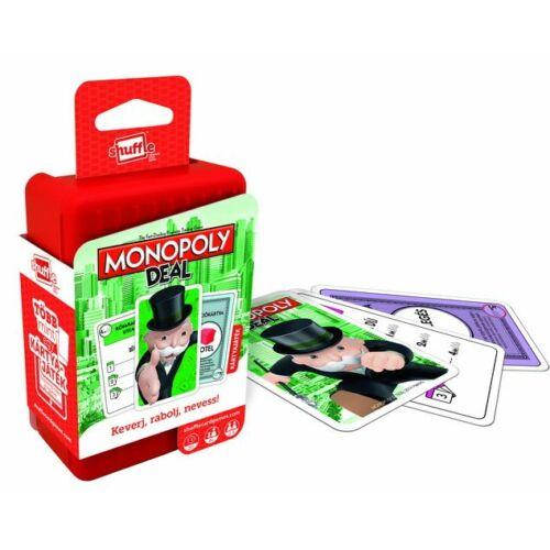 Shuffle - Monopoly Deal - Keverj, rabolj, nevess! - kártyajáték - Egyszerbolt Társasjáték Webáruház
