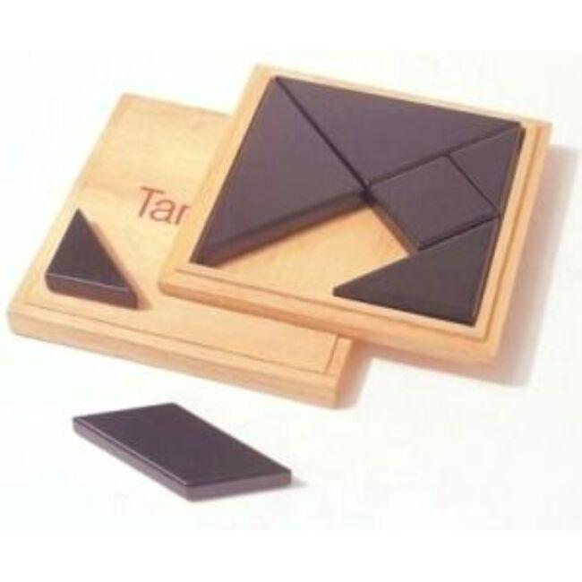 Tangram fából, fadobozban 13x13 cm - 791740 - Egyszerbolt Társasjáték Webáruház