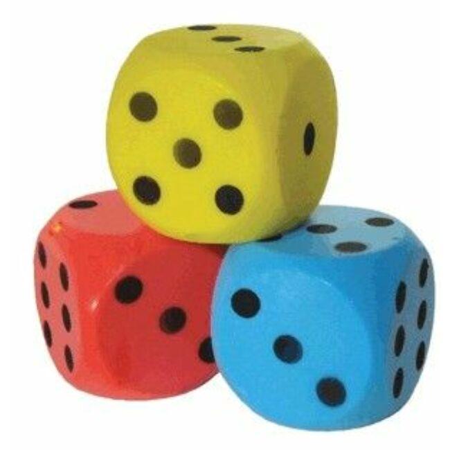 Szivacs dobókocka 15cm, kék színű 733002 - Egyszerbolt Társasjáték Webáruház