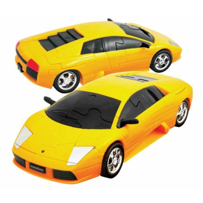 3D Puzzle - Lamborghini Murciélago -sárga - társasjáték 8 éves kortól - Eureka
