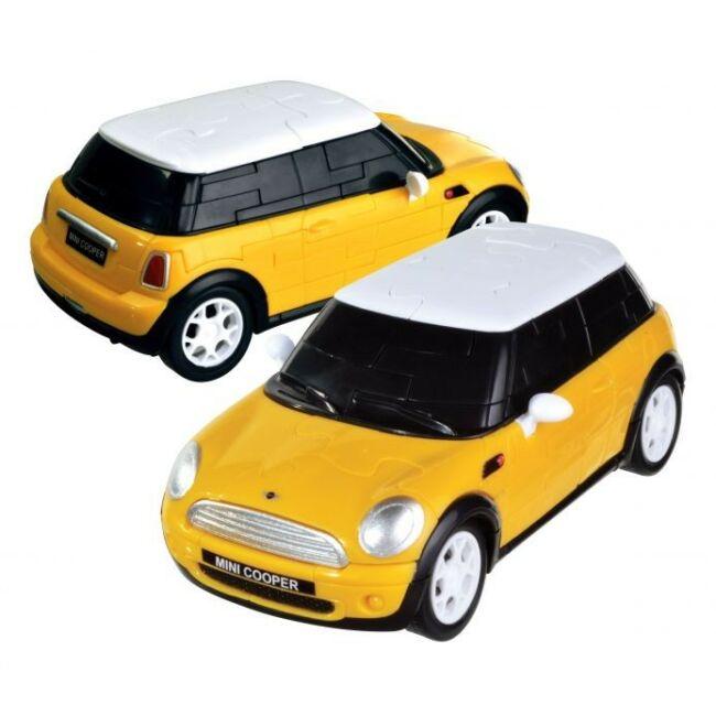 3D Puzzle - Mini Cooper - sárga - társasjáték 8 éves kortól - Eureka