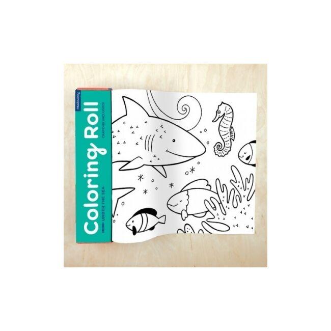 Színezőtekercs 4 db szines ceruzával - A tenger alatt -Egyszerbolt Társasjáték