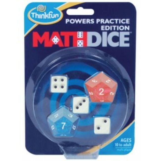 Math Dice Powers 10 éves kortól - hatványok - logikai képességfejlesztő társasjáték - ThinkFun