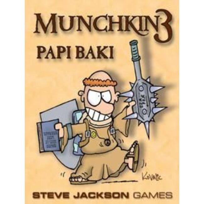 Munchkin 3 - Papi Baki - magyar kiadás - stratégiai társasjáték 12 éves kortól - Delta Vision