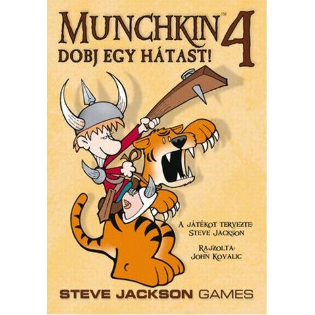 Munchkin 4 - Dobj egy hátast! - magyar kiadás - stratégiai társasjáték 12 éves kortól - Delta Vision