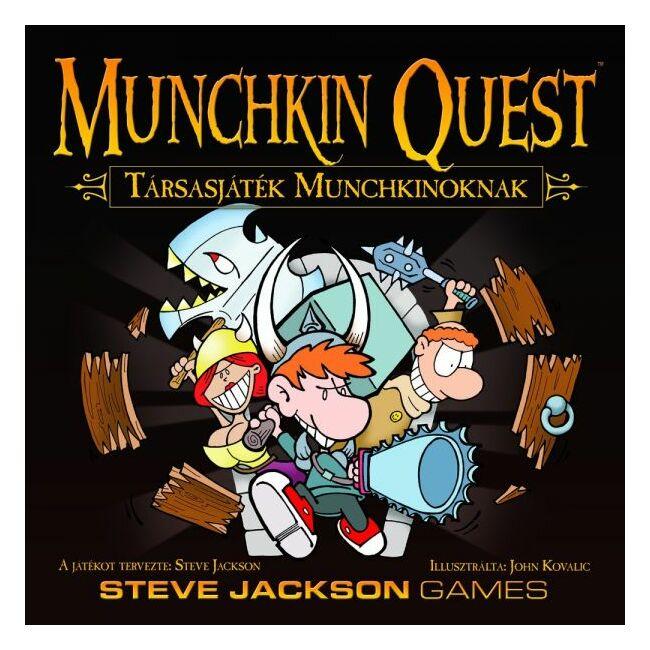 Munchkin Quest - Társasjáték Munchkinoknak - magyar kiadás - stratégiai társasjáték 12 éves kortól - Delta Vision