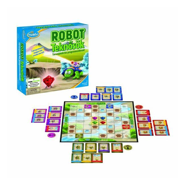 Robotteknősök - magyar kiadás - logikai képességfejlesztő társasjáték 4 éves kortól - ThinkFun