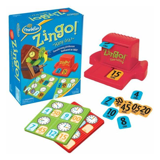 Zingo - Hány óra van? - képességfejlesztő gyerek társasjáték 5 éves kortól - ThinkFun