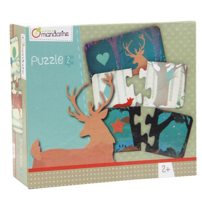 Párosító puzzle - Alakzatok - Avenue Mandarine - játék 2 éves kortól - Egyszerbolt Társasjáték