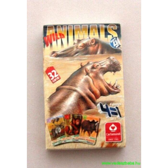 4 az 1-ben / Vadállatok 4. intl. Kártya - Egyszerbolt Társasjáték Webáruház