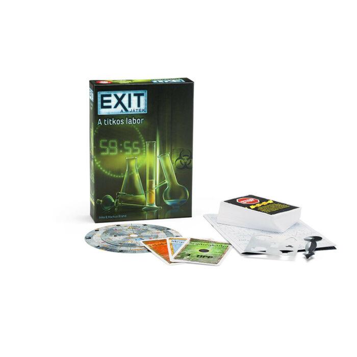Exit 2 - A titkos labor - szabadulós játék 12 éves kortól - Egyszerbolt Társasjáték