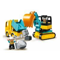 LEGO DUPLO Town - Teherautó és lánctalpas exkavátor 10931