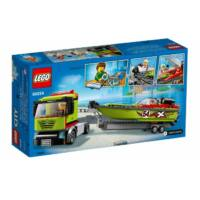 LEGO City Great Vehicles - Versenycsónak szállító 60254
