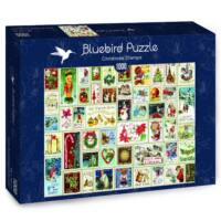 Karácsonyi bélyegek - Christmas Stamps - Bluebird 70488 - 1000 db-os puzzle