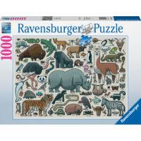 Ravensburger 16807 - Vadállatok - 1000 db-os puzzle