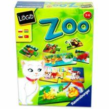 Ravensburger Logo Zoo: állatok és kölykeik  - Egyszerbolt Társasjáték Webáruház