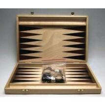 Backgammon, 35x23cm-es világosbarna fadobozban - 601121