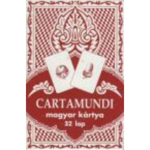 Magyar kártya klasszikus, piros 32 lapos - Egyszerbolt Társasjáték Webáruház