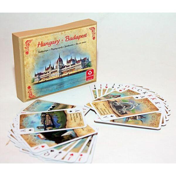 Magyarország-Budapest dupla bridge kártya díszdobozban - Egyszerbolt Társasjáték Webáruház