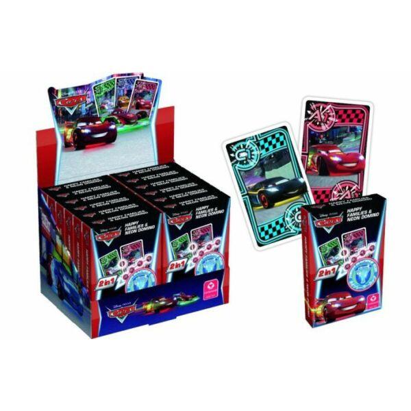 Cars-Verdák Neon kvartett és dominó kártyajáték - Egyszerbolt Társasjáték Webáruház