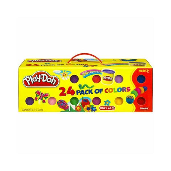 Play-Doh gyurmakészlet hordozófüllel, 24 tégely gyurmával - Egyszerbolt Társasjáték Webáruház
