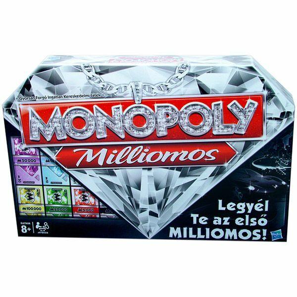 Monopoly milliomos-Monopoly Millionaire - Egyszerbolt Társasjáték Webáruház