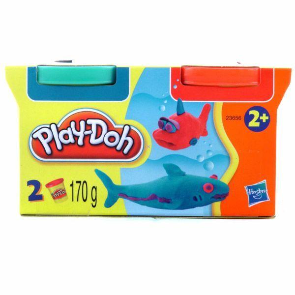 Play-Doh 2 tégelyes utántöltő gyurma készlet - sárga-rózsaszín - Egyszerbolt Társasjáték Webáruház
