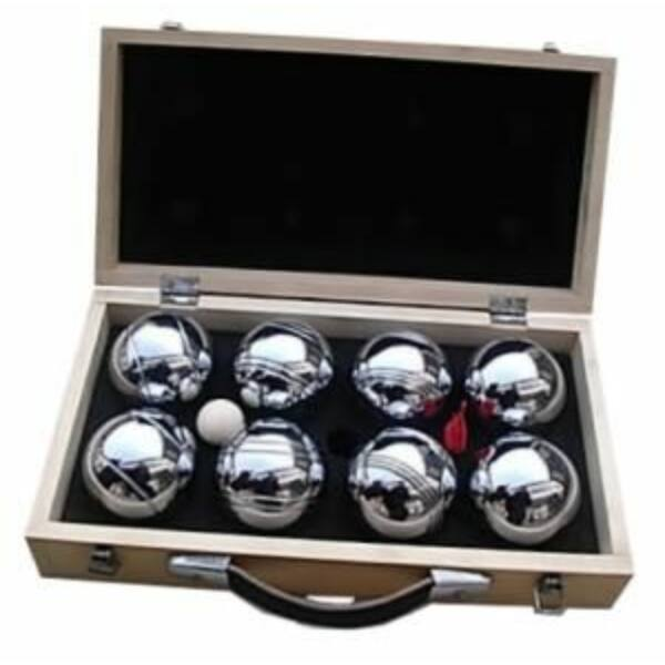 Pétanque fa dobozban, 8 golyó - 251206 - Egyszerbolt Társasjáték Webáruház