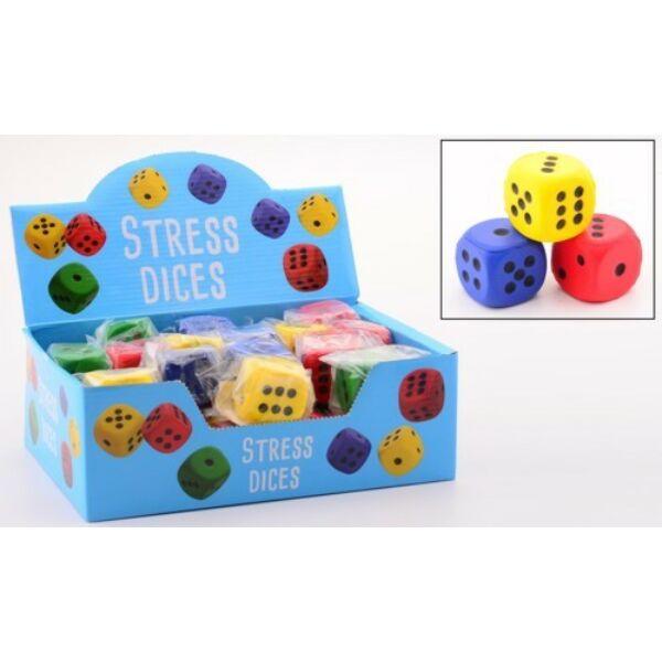 Dobókocka, 3 db, 5 cm, gumiból 733126 - Egyszerbolt Társasjáték Webáruház