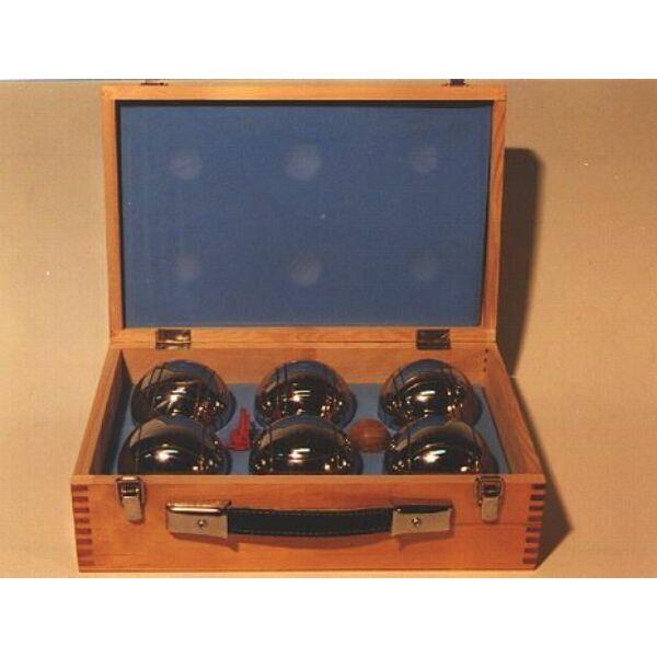 Pétanque fa dobozban, 6 golyó - 251216 - Egyszerbolt Társasjáték Webáruház
