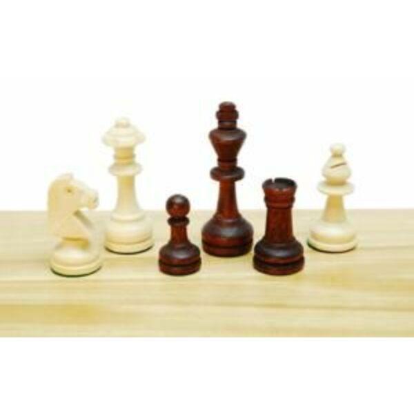 Sakkfigura készlet fából, Staunton 3-as, 652033 - Egyszerbolt Társasjáték Webáruház