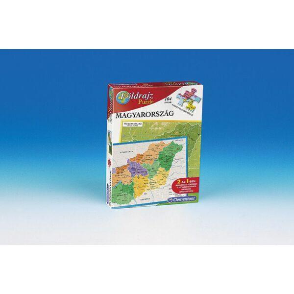 Geo puzzle Magyarország - Clementoni - Egyszerbolt Társasjáték Webáruház