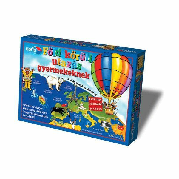 Föld körüli utazás gyermekeknek társasjáték - Noris - Egyszerbolt Társasjáték Webáruház
