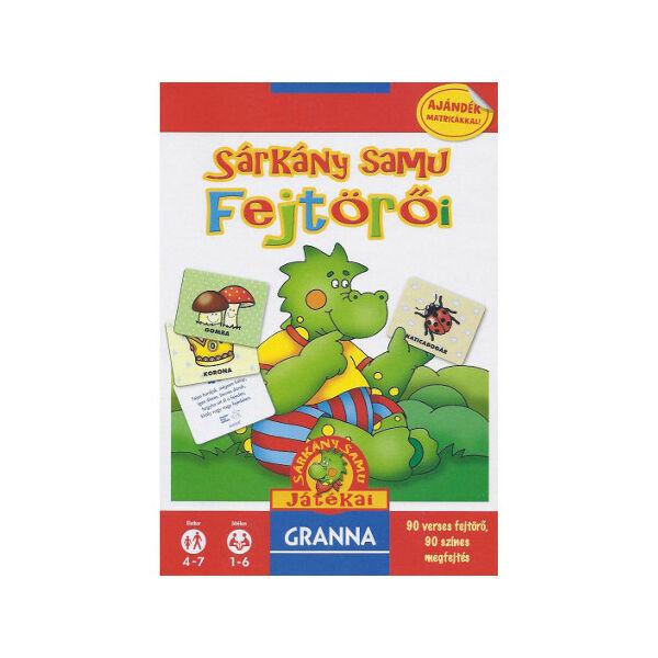 Sárkány Samu fejtörői  - képességfejlesztő társasjáték 4 - 7 éves korig - Granna - Egyszerbolt