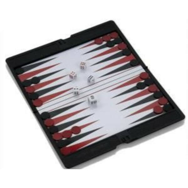Backgammon, 17x10 cm-es, hordozható - 600500 - Egyszerbolt Társasjáték Webáruház