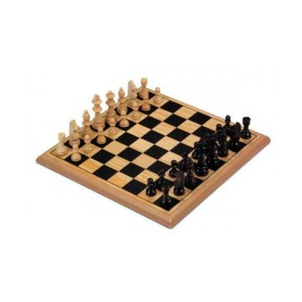 670235 Longfield sakk készlet fából 29cm*29cm - Egyszerbolt Társasjáték Webáruház