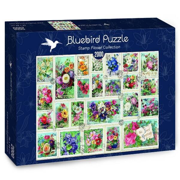 Stamp Flower Collection - Bluebird 70472 - 2000 db-os puzzle