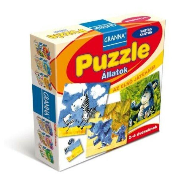 Az első játékaim Puzzle - Állatok  - társasjáték 2 éves kortól - Granna - Egyszerbolt