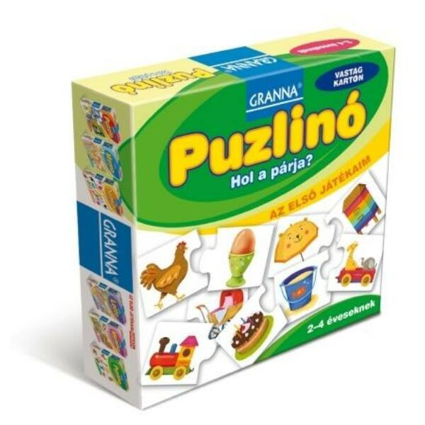 Az első játékaim Puzzlinó - Hol a párja?  - társasjáték 2 éves kortól - Granna - Egyszerbolt