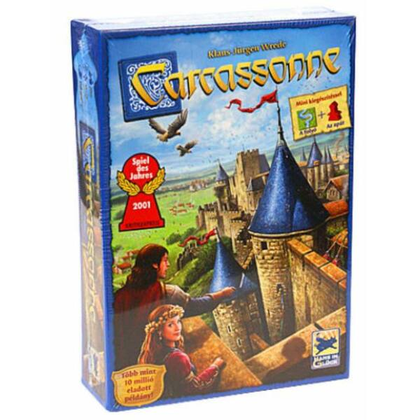 Carcassonne Új kiadás mini kiegészítéssel - 10 éves kortól - A folyó+Az apát - Egyszerbolt Társasjáték Webáruház