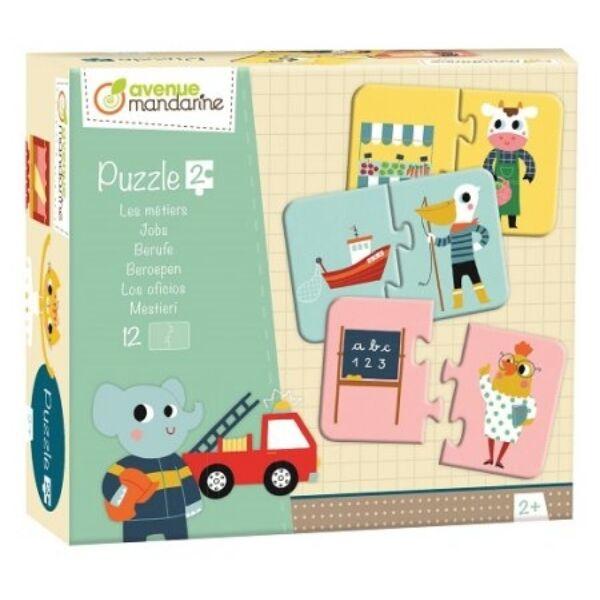 Párosító puzzle - Foglalkozások - Avenue Mandarine - játék 2 éves kortól - Egyszerbolt Társasjáték