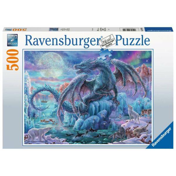 Ravensburger 14839 - Misztikus sárkány - 500 db-os puzzle