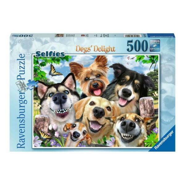 Ravensburger 16425 - Szelfik - Boldog kutyák - 500 db-os puzzle