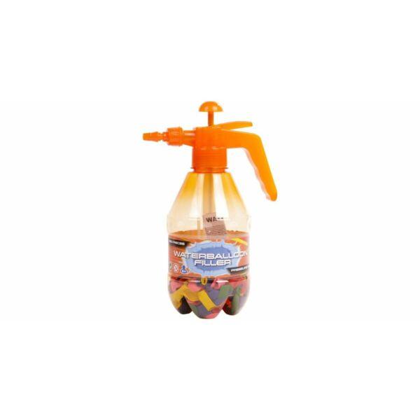 Vízibomba töltő 250 db lufival, narancs